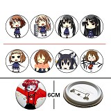K-ON anime Badges(8 a set)