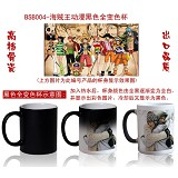 One piece anime hot and cold color cup