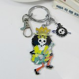 One piece Brook anime keychains