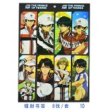 The prince of tennis anime bookmarks(8pcs a set)