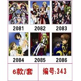 Code Geass anime mouse pads(6pcs a set)