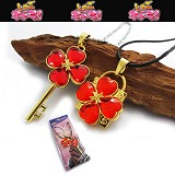 Shugo Chara lovers anime necklace(red)