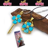 Shugo Chara lovers anime necklace(blue)
