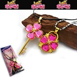 Shugo Chara lovers anime necklace(pink)