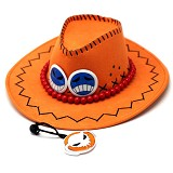 One Piece ACE anime cos hat(orange)