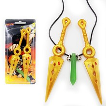 Naruto anime cos weapons+necklace