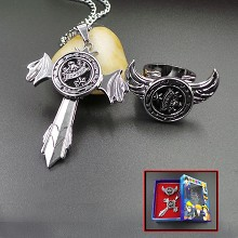 Reborn anime necklace+ring