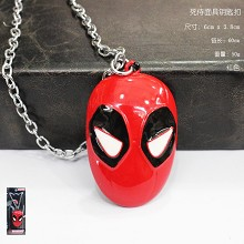 Deadpool iron necklace