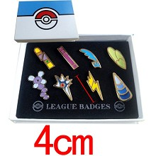 Pokemon anime brooches pins a set