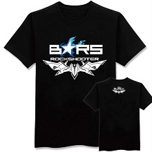 Black rock shooter cotton black t-shirt