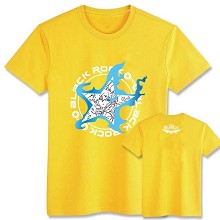Black rock shooter cotton yellow t-shirt
