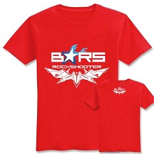 Black rock shooter cotton red t-shirt