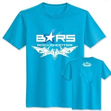 Black rock shooter cotton blue t-shirt