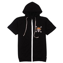 One Piece cotton short sleeve hoodie