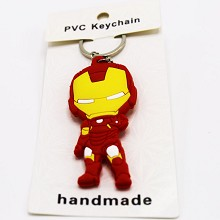 Iron Man PVC  two-sided key chain