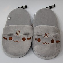 Pusheen the cat plush shoes slippers a pair