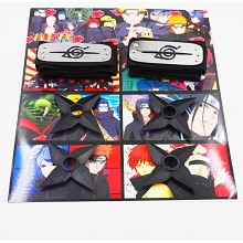 Naruto cos headbands+ weapons set(6pcs a set)