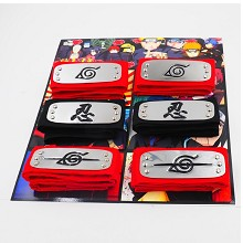 Naruto cos headbands set(6pcs a set)