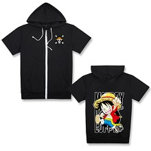 One Piece Luffy short sleeve hoodie