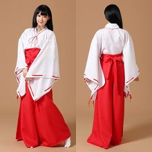 Inuyasha cosplay dress cloth a set
