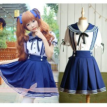 Student cosplay dress cloth a set