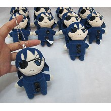 4inches Kuroshitsuji Ciel plush dolls set(10pcs a ...