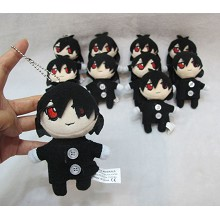 4inches Kuroshitsuji Sebastian plush dolls set(10p...