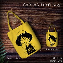 One Piece canvas tote bag shopping bag
