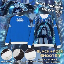 Black rock Shooter full print hoodies