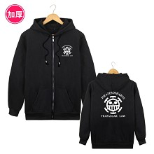 One Piece Law thick hoodie cloth