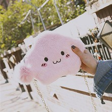 Cloud plush satchel shoulder bag