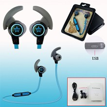 Black Rock Shooter wireless bluetooth earphones