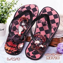 Date A Live rubber flip-flops shoes slippers a pai...