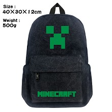 Minecraft canvas backpack bag
