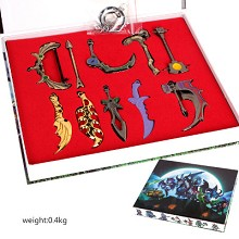 Dota key chains a set