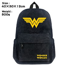 Wonder Woman canvas backpack bag