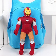 Iron Man children plush backpack school bag