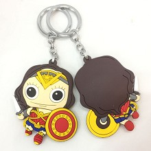 Wonder Woman soft plastic key chain