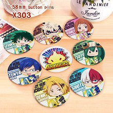 My Hero Academia anime brooches pins set(8pcs a set)