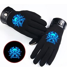 One Piece anime luminous gloves a pair