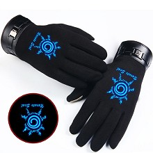 Naruto anime luminous gloves a pair