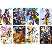 Overwatch game posters set(8pcs a set)