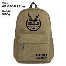 My Hero Academia canvas backpack bag