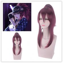 League of Legends KDA Akali cosplay wig 55cm