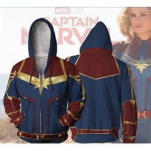 Captain Marvel movie 3D printing hoodie sweater cl...
