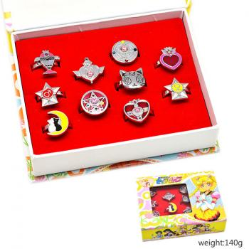 Sailor Moon anime rings set(10pcs a set)