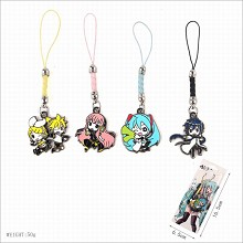 Hatsune Miku anime phone straps a set