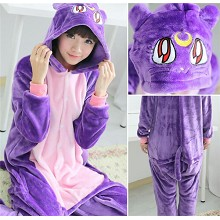 Sailor Moon anime flano bpyjama dress hoodie
