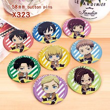 Attack on Titan anime brooches pins set(8pcs a set...