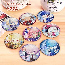 Fate Grand Order anime brooches pins set(8pcs a se...